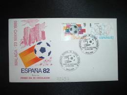 LETTRE TP ESPAGNE 19P + 8P OBL.23 MAYO 1980 FDC MALAGA CAMPEONATO MONDIAL DE FUTBOL ESPANA 82 - Fußball-Weltmeisterschaft