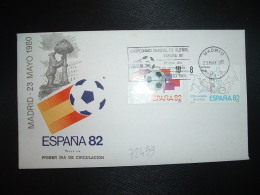 LETTRE TP ESPAGNE 19P + 8P OBL.MEC.23 MAY 80 FDC MADRIF CAMPEONATO MONDIAL DE FUTBOL ESPANA 82 - Fußball-Weltmeisterschaft