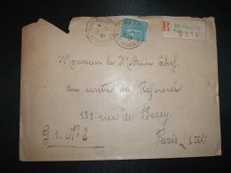 LR TP SEMEUSE 1F OBL.19-6 29 LE TOUQUET PARIS PLAGE PAS DE CALAIS (62) - Tarifas Postales