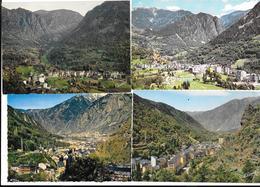 ANDORRE - VALLS D'ANDORRA - LES ESCALDES   4 Cartes Différentes  1963 - 1966  - - Andorra