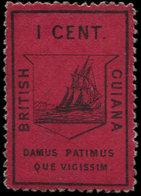 * GUYANE BRITANNIQUE 5 : 1c. Carmin Foncé, Réimpression, TB - Guyana (1966-...)