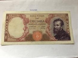 Italy Michelangelo  Banknote 10000 Lira 1966 - [ 2] 1946-… : Repubblica