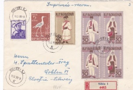 ROUMANIE  :  Divers Costumes Sur Recommandé De Sibia De 1959 - Unclassified