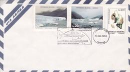 AIRMAIL. UNESCO PATRIMONIO MUNDIAL, LOS GLACIARES, PARQUE NACIONAL(STA CRUZ). VUELO REG TRANSATLANTICO.- BLEUP - UNESCO