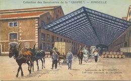 """13 - Marseille : Savonneries De La """"Grappe"""" , Une Cour Interieure De Chargement. - Marseille"""