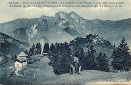 - Savoie -ref-A792- Environs De  Valloire - Chapelle Des Trois Croix Et Fort Du Telegraphe - Chapelles - Forts - - Autres Communes