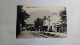 Monestier De Clermont La Gare Et Le Mont Baconnet Train Locomotive - France