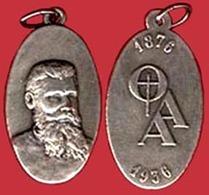 ** MEDAILLE  PERE  DANIEL  BROTTIER  1876 - 1936  +  3  RELIQUES ** - Religion & Esotérisme