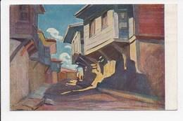 CPA BULGARIE ILLUSTRATION Nicolas Taneff Rue à MESSEMBRIA - Bulgarie