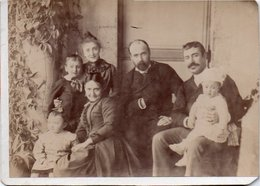 86Va Photo Cartonnée Cabinet (16.5cm X 12cm) Familles Pertus Et Antony Reveillon à Guclina Algerie En 1888 - Photographie