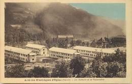 - Savoie -ref-A789-  Ugine - Acieries Electriques - Dortoirs Et La Phalanstere -  Usine - Usines - Industrie - - Ugine