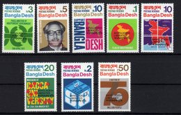 Bangladesh 1971 Sc#9-16 Overprint Set - Bangladesh