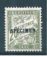 France Timbre Taxe  N°31 (surchargé Spécimen)   Neuf * Cote 45€ - Cours D'Instruction