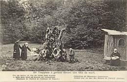 - Savoie -ref-A787- Tamie - Trappiste A Genoux Devant Une Tete De Mort - Abbaye De Tamié - Abbayes - Carte Bon Etat - - Autres Communes