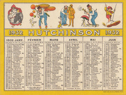 °°°°  HUTCHINSON CALENDRIER  DE 1932    °°°°  REF JUIN 18 - Autres Communes