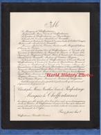 Document De 1920 - CHEFFONTAINES Par Bénodet Finistère Bretagne - Christophe Marie Jonathas Louis De PENFENTENYO Marquis - Historische Dokumente