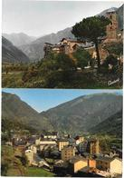 ANDORRE - VALLS D'ANDORRA - 2 Cartes - ANDORRA LA VELLA  LA CAPITALE- CLAVEROL Photo - Editeur DRAEGER PARIS 1164-1165 - Andorra