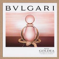 CC Carte Parfumée 'BVLGARI' ROSE GOLDEA Perfume Card JAPAN - Modern (from 1961)