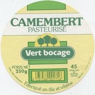 Etiquette Camembert : Retiers - Cheese