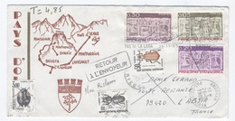 ANDORRE 1985 RETOUR RECTO /  VERSO   - Z1 - Covers & Documents