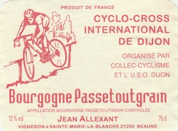 Etiquette (90x120) - Cyclisme -cyclo-cross International De Dijon , - Cycling