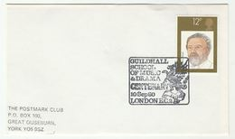 1980 GUILDHALL SCHOOL Of MUSIC DRAGON EVENT COVER Fdc Henry Wood Stamps London Gb - Mythology