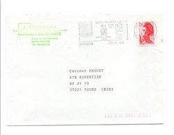 FLAMME DE LIMOURS EN HUREPOIX ESSONNE 1989 - Marcophilie (Lettres)