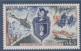 Gendarmerie Nationale, Ses Différents Activités: Sauvetage En Montagne, En Mer, Motards, Hélicoptère 45c N°1622 Neuf - Unused Stamps