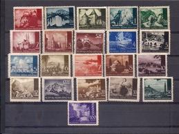 CROACIA 1941-1943 - PAISAJES - SERIE COMPLETA DE 21 SELLOS - YVERT Nº 32-45A* - Kroatien