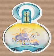 CC Carte Parfumée 'FERRAGAMO' INCANTO SKY Perfume Card JAPAN - Modern (from 1961)