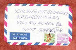 Luftpost, MiF Tiere U.a., Khartoum Nach Muenchen 1977 (53031) - Sudan (1954-...)