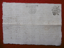 GENERALITE DE TOULOUSE MANUSCRIT AUTOGRAPHE ROUQUETTE 1686 Recto Verso - Cachets Généralité