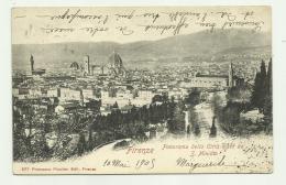 FIRENZE - PANORAMA DELLA CITTA' VISTO DA S.MINIATO 1909  VIAGGIATA FP - Firenze