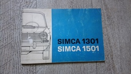 Guide Notice Utilisation Simca 1301 Simca 1501 - Auto