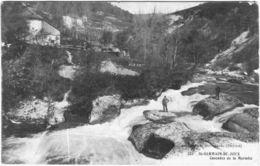 Carte Postale Ancienne De SAINT GERMAIN DE JOUX- Cascades De La Marmite - Autres Communes