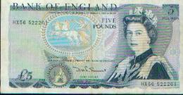ROYAUME-UNI - 5 Livres « Duke Of Wellington » - 1952-… : Elizabeth II