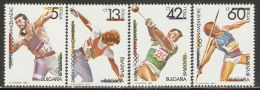 Bulgaria 1990 Mi# 3866-3869 A ** MNH - Olymphilex '90, Varna / Sports - Summer 1992: Barcelona