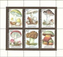 Bulgaria 1991 Mi# 3886-3891 Kleinbogen (3 X 2) ** MNH - Mushrooms - Bulgarie