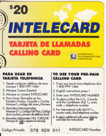 DOMINICANA - Intelecard, International Telecom Prepaid Card $20, Used - Dominicaanse Republiek