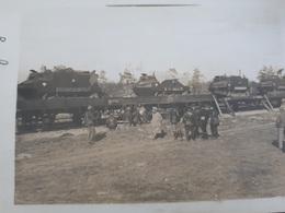 Char 14-18 - Char Schneider Chargés Sur Plateau De Train Peu Courant - 1914-18