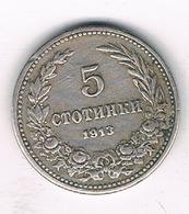 5 STOTINKI 1913 BULGARIJE /3433G/ - Bulgaria