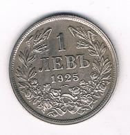 1 LEVA 1925 BULGARIJE /3433G/ - Bulgaria