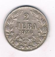 2 LEVA 1925 BULGARIJE /3435G/ - Bulgaria