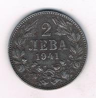 2 LEVA 1941 BULGARIJE /3437G/ - Bulgaria