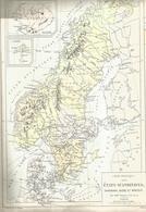 Géographie, Scandinavie, Danemark Suède Norvège - Drioux Leroy - Librairie Belin Paris - Carte Politique - Geographical Maps