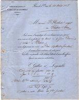 VP12.360 - Lettre - Maison Edouard LEHUGEUR & Cie  - E.GALLIET & LEGEMBLE Successeurs à FLERS DE L'ORNE - 1800 – 1899