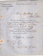 VP12.361 - Lettre - Maison Edouard LEHUGEUR & Cie  - E.GALLIET & LEGEMBLE Successeurs à FLERS DE L'ORNE - 1800 – 1899