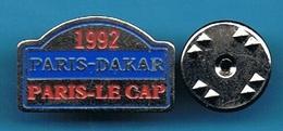 PIN'S //   ** PARIS-DAKAR / 92 / PARIS-LE CAP ** . (AB) - Rallye