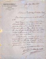 VP12.364 - Lettre - Maison Edouard LEHUGEUR & Cie  - E.GALLIET & LEGEMBLE Successeurs à FLERS DE L'ORNE - 1800 – 1899