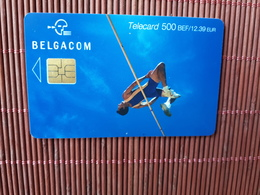 Phonecard Sport 500 BEF   Used  Low Issue Rare - Mit Chip
